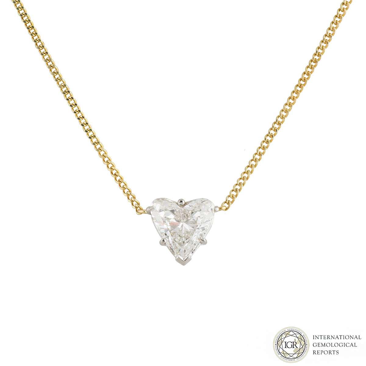 Heart Cut Diamond Pendant 1.78ct G/VS2